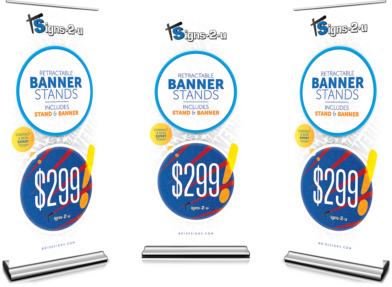 Retractable Banner Stand Special