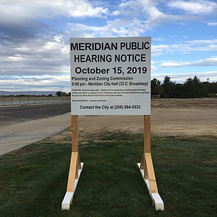 Public Hearing Notice Sign