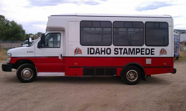 Idaho Stampede Bus Wrap