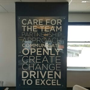 core values wall sign
