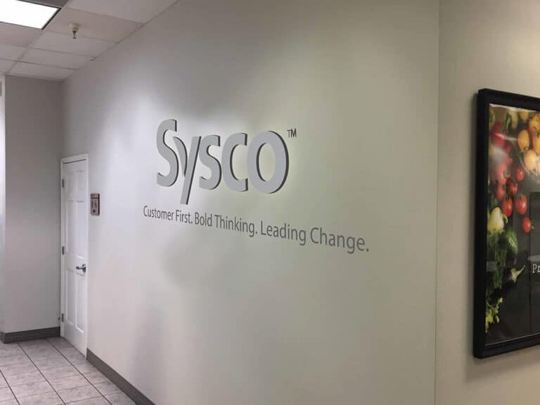 sysco dimensional letter sign in Boise, Idaho