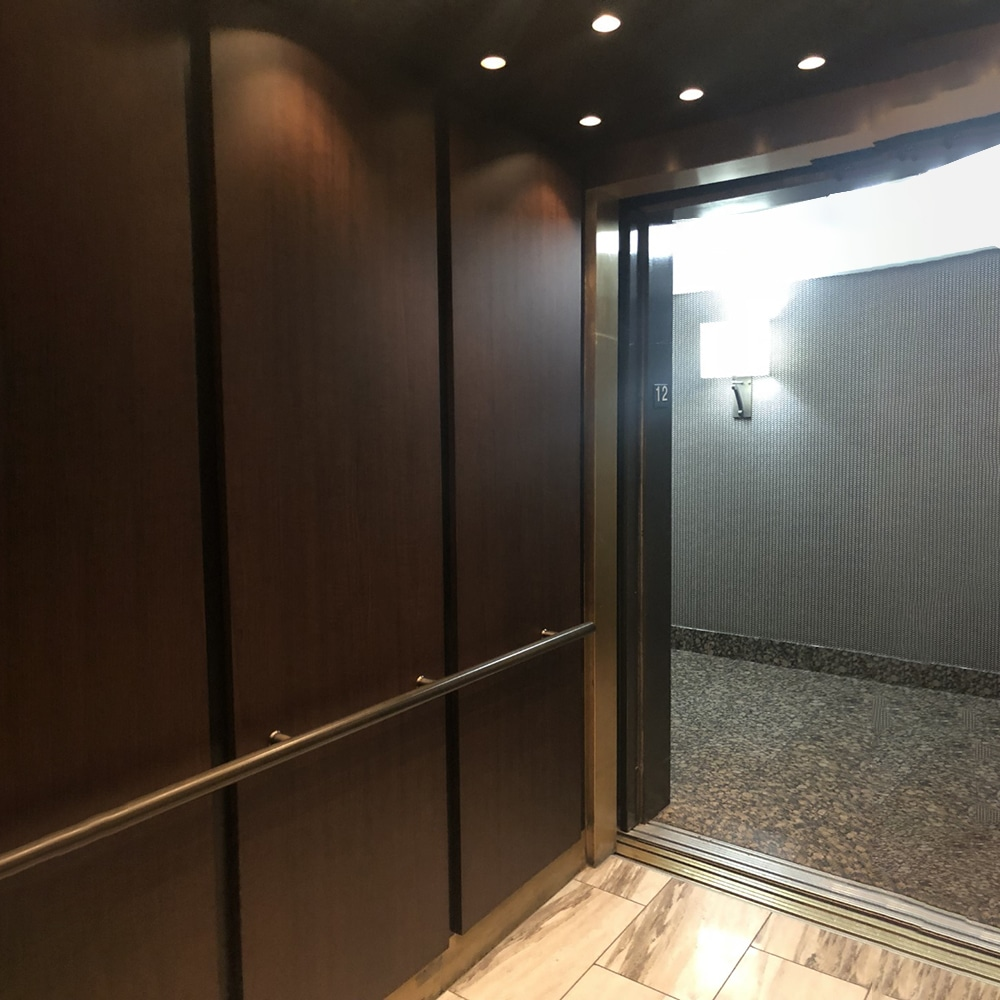 refinished elevator cabs