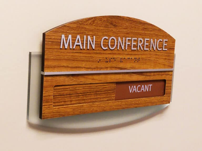 conference room sign