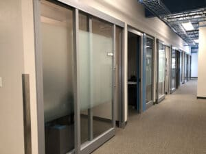 dusted window film