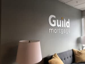 guild mortgage reception sign