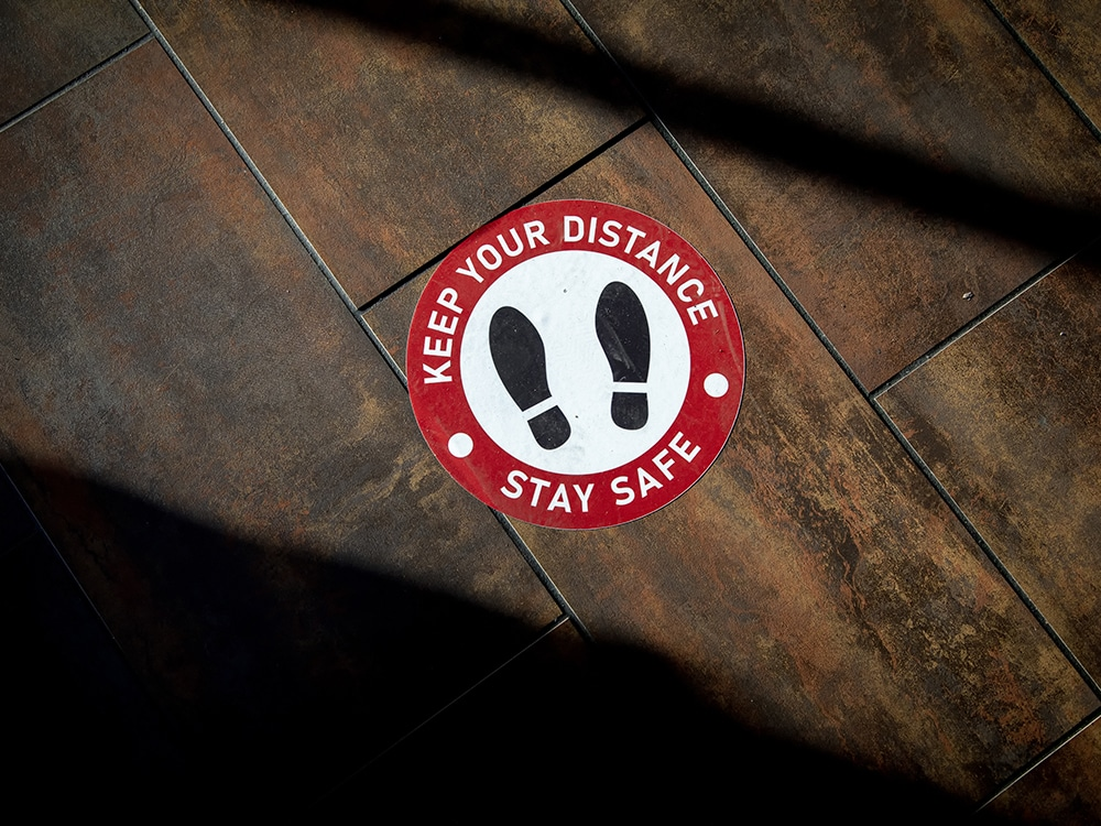 floor social distance sticker