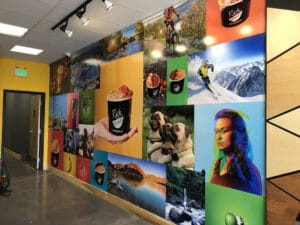 Rush Bowls in Boise, ID printed wall covering