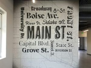 Map of Boise, ID graphics